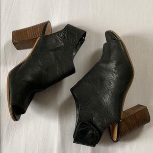 Nine West Black Peep Toe Booties